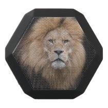 Closeup Portrait of a Male Lion Black Bluetooth Speaker