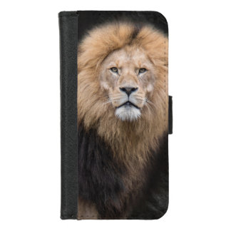 Closeup Portrait of a Male Lion iPhone 8/7 Wallet Case