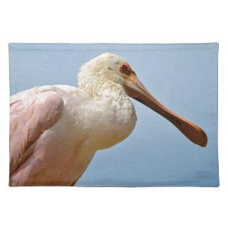 Closeup Roseate Spoonbill Cloth Placemat