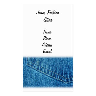 Closeup View of Jeans Pants Pattern Business Card