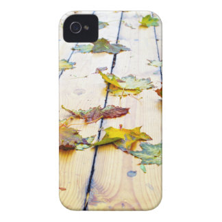 Closeup view on a wet green and yellow leaves iPhone 4 Case-Mate case