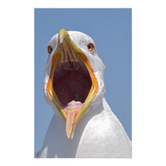 Closeup Yellow-legged Gull Stationery