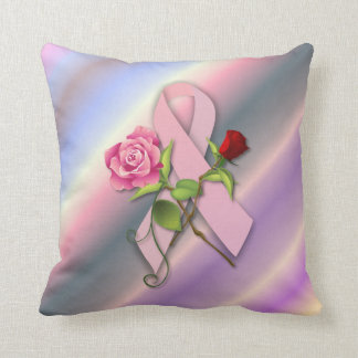 Closure for the Breast Cancer Survivor Throw Pillows