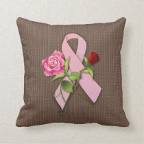 Closure for the Breast Cancer Survivor Throw Pillow