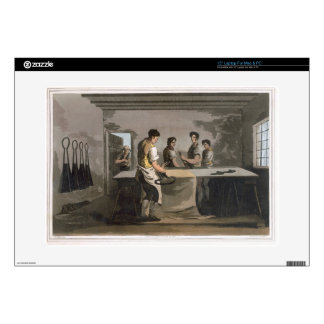 """Cloth Dressers, from `Costume of Yorkshire' engrav Decal For 15"""" Laptop"""