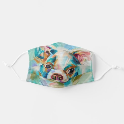 Cloth face mask covering  Boston Terrier art