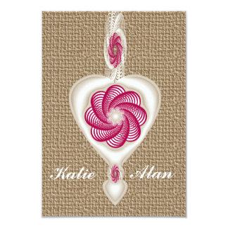 Cloth Heart Wedding/Engagement Invite Card