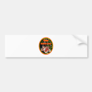 Cloth Hibiscus Happy Mother Day 2 o The MUSEUM Zaz Car Bumper Sticker