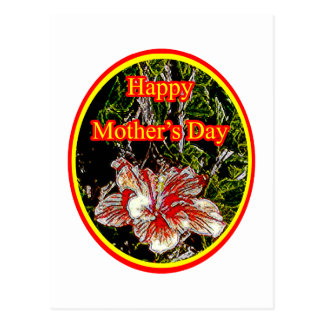 Cloth Hibiscus Happy Mother Day 2 o The MUSEUM Zaz Post Card