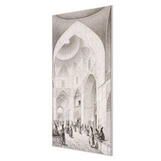 Cloth Market, in Isfahan, from 'Voyage Pittoresque Canvas Print