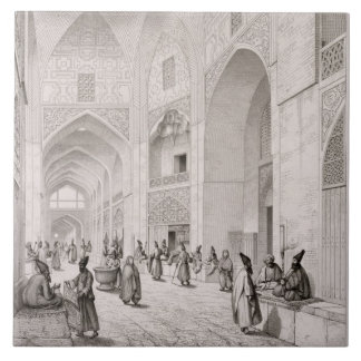 Cloth Market, in Isfahan, from 'Voyage Pittoresque Ceramic Tile