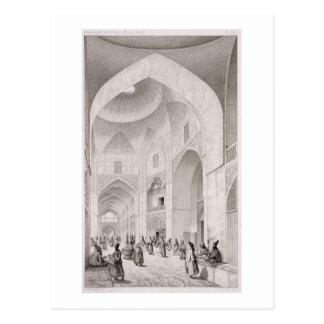 Cloth Market, in Isfahan, from 'Voyage Pittoresque Postcard