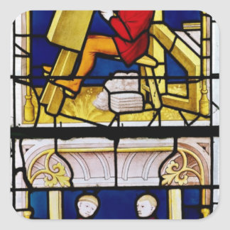 Cloth Merchant's Window Square Sticker