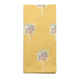 Cloth Napkins Yellow Palm Tree