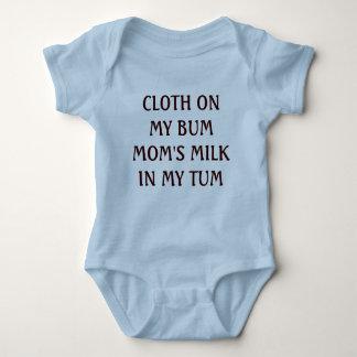 CLOTH ON MY BUM MOM'S MILK IN MY TUM BABY BODYSUIT
