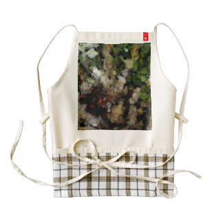 Cloth patches of different colors zazzle HEART apron