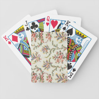 Cloth woven for Queen Marie Antoinette at the Pala Bicycle Playing Cards