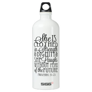 Clothed in Strength & Dignity Aluminum Water Bottle