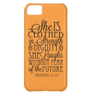 Clothed in Strength & Dignity Case For iPhone 5C