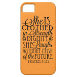 Clothed in Strength & Dignity iPhone 5 Cases