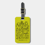 Clothed in Strength & Dignity Luggage Tags