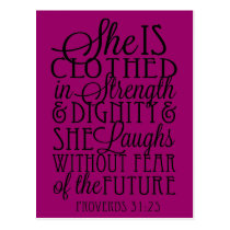 Clothed in Strength & Dignity Postcard