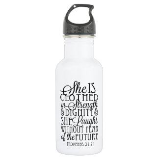 Clothed in Strength & Dignity Stainless Steel Water Bottle
