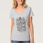 Clothed in Strength & Dignity T-shirt