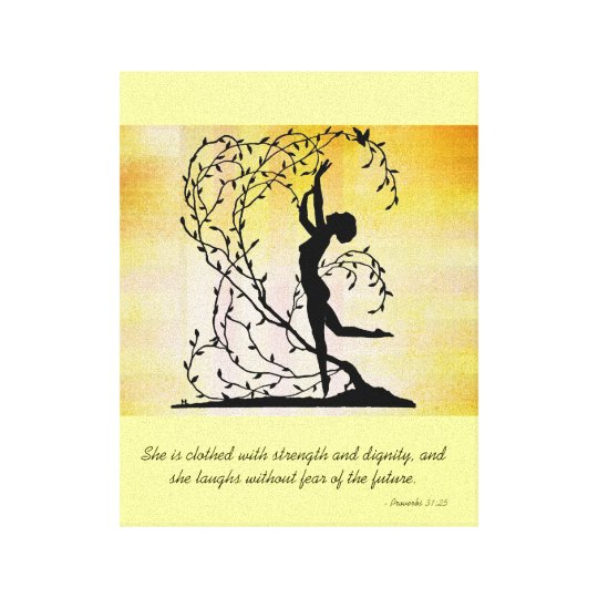 She Is Clothed With Strength And Dignity Canvas: Clothed With Strength And Dignity Wall Canvas