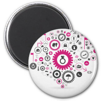 Clothes a gear wheel magnet