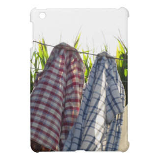 Clothes are hanging on clothesline iPad mini case
