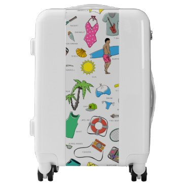 Beach Themed clothes, entertainment and travel luggage
