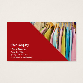 Clothes for sale business card