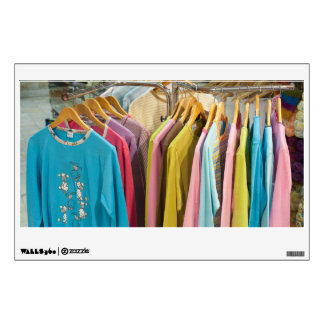 Clothes for sale wall decal