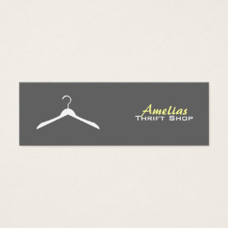 Clothes Hanger Business Cards -Color Changeable.