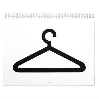Clothes hanger calendar