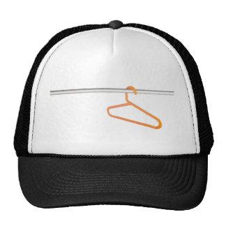 Clothes hanger on rack mesh hat