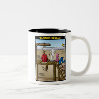 """Clothes Hanger"" Two-Tone Coffee Mug"