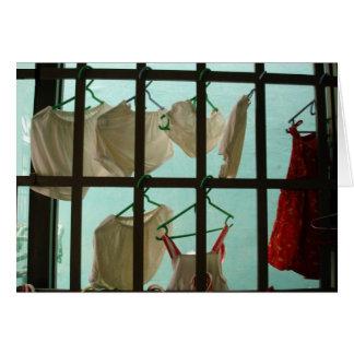 Clothes Hanging During Monsoon Season [CARD] Card