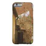 Clothes hanging to dry on a clothesline, barely there iPhone 6 case