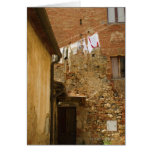 Clothes hanging to dry on a clothesline, greeting cards