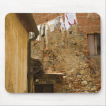 Clothes hanging to dry on a clothesline, mouse pad