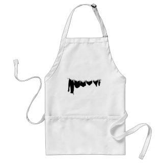 Clothes line silhouette adult apron