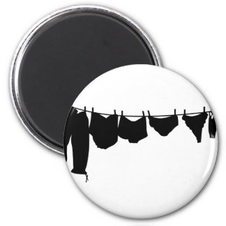 Clothes line silhouette magnet