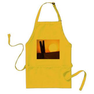 Clothes peg at sunrise adult apron