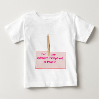 CLOTHES PEG MEMORY ELEPHANT 1.PNG BABY T-Shirt