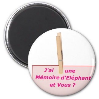 CLOTHES PEG MEMORY ELEPHANT 1.PNG MAGNET