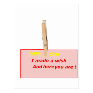 CLOTHES PEG STAR WISH YOUNG STAG 1.PNG POSTCARD