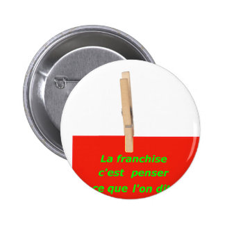 CLOTHES PEG TO THINK OF SAYING 1.PNG PINBACK BUTTONS