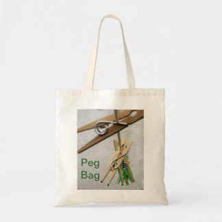 Clothes Pegs on a Washing Line Bag